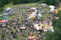 Overhead view of the Gatley Festival